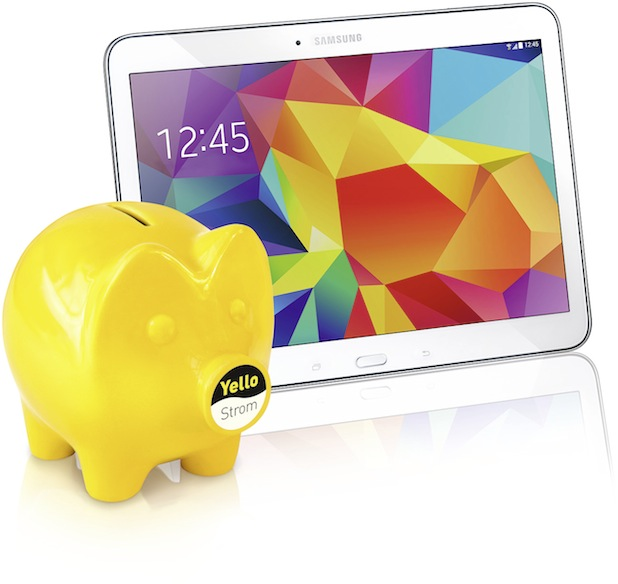 Photo of Yello Strom kombiniert Strom- und Gas-Tarif mit Samsung GALAXY Tab 4