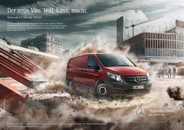 Mercedes-Benz Vans präsentiert den neuen Vito mit einer bildgewaltigen Kampagne zur Markteinführung