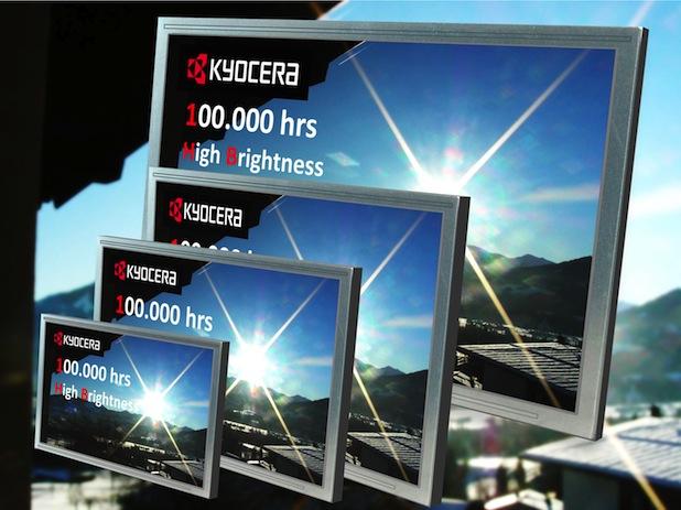 Bild von Kyocera erhöht die Lebensdauer seiner Displays auf 100.000 Stunden