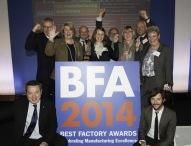 """BRITA Großbritannien erhält einen der begehrten """"Best Factory Awards"""""""