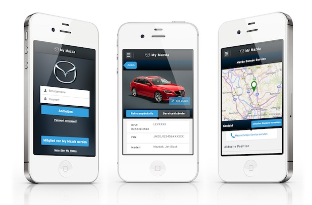 Photo of My Mazda App in neuem Design