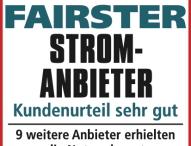 NaturEnergiePlus zum vierten Mal in Folge fairster Stromanbieter