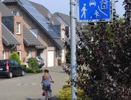 Verkehrsberuhigter Bereich: Schrittgeschwindigkeit fahren