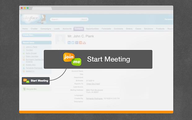 Bild von Integration von Salesforce in das Webtool join.me ermöglicht Vertriebsdemos
