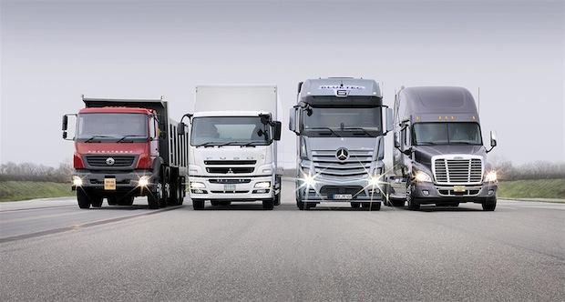 Bild von Daimler Trucks verkauft fast 500.000 Lkw in 2014