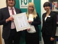 FOM Absolventen in Stuttgart mit ETL-Mittelstandspreis ausgezeichnet