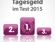 Langzeit-Test 2015: Die besten Tagesgeldzinsen der letzten 1, 3 und 5 Jahre