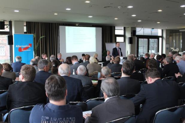 Zirka 120 Gründungsgäste konnte das AfD Mittelstandsforum in Kassel begrüßen.
