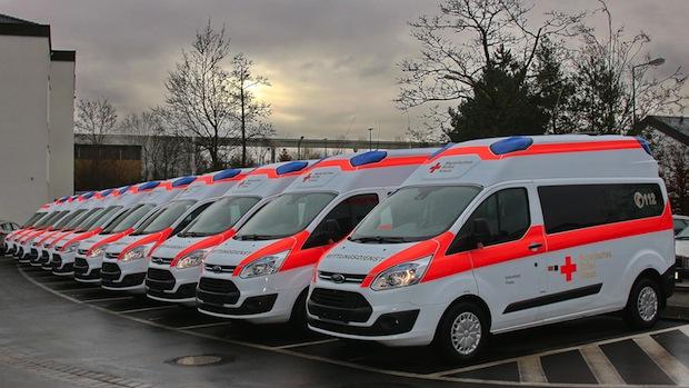 """Bild von 500. Ford Transit """"Bayern Krankentransportwagen"""" übergeben"""