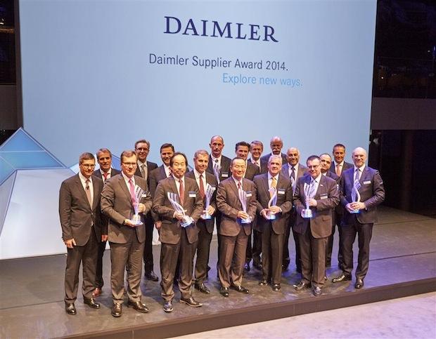 Photo of Daimler zeichnet seine Lieferanten mit Supplier Award 2014 aus