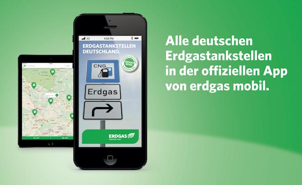 Bild von Offizielle Erdgastankstellen-App von erdgas mobil