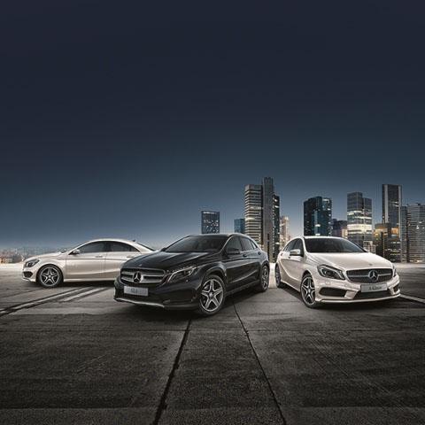 """Bild von Mercedes-Benz A-, CLA- und GLA-Klasse im sportlichen """"StreetStyle"""""""
