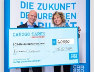 car2go spendet 40.000 Euro an SOS-Kinderdörfer