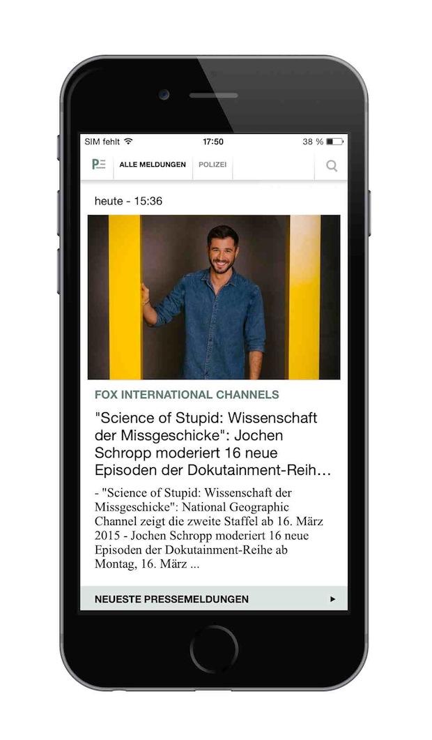 Bild von Presseportal App jetzt im neuen Design erhältlich