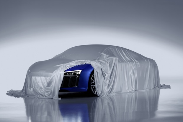 Bild von Audi zeigt Laser-Scheinwerfer des neuen R8