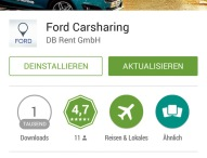 Ford erweitert die Ford Carsharing App