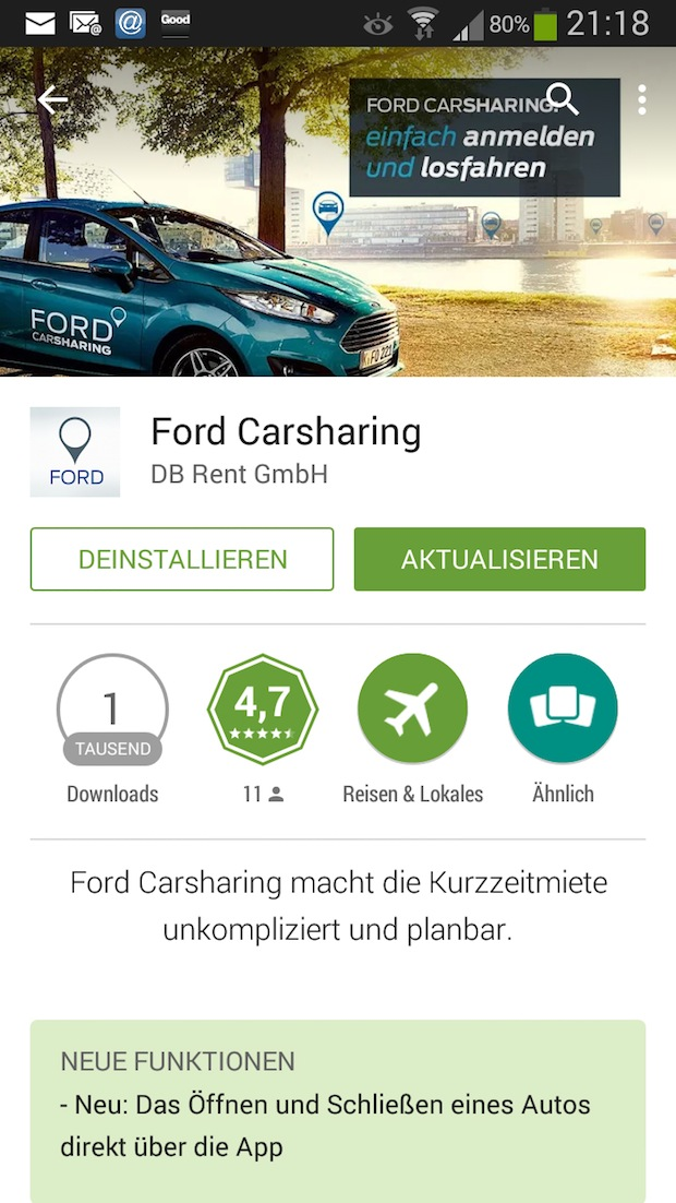 Photo of Ford erweitert die Ford Carsharing App