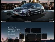 Markteinführungskampagne für den neuen Mercedes-Benz CLA Shooting Brake