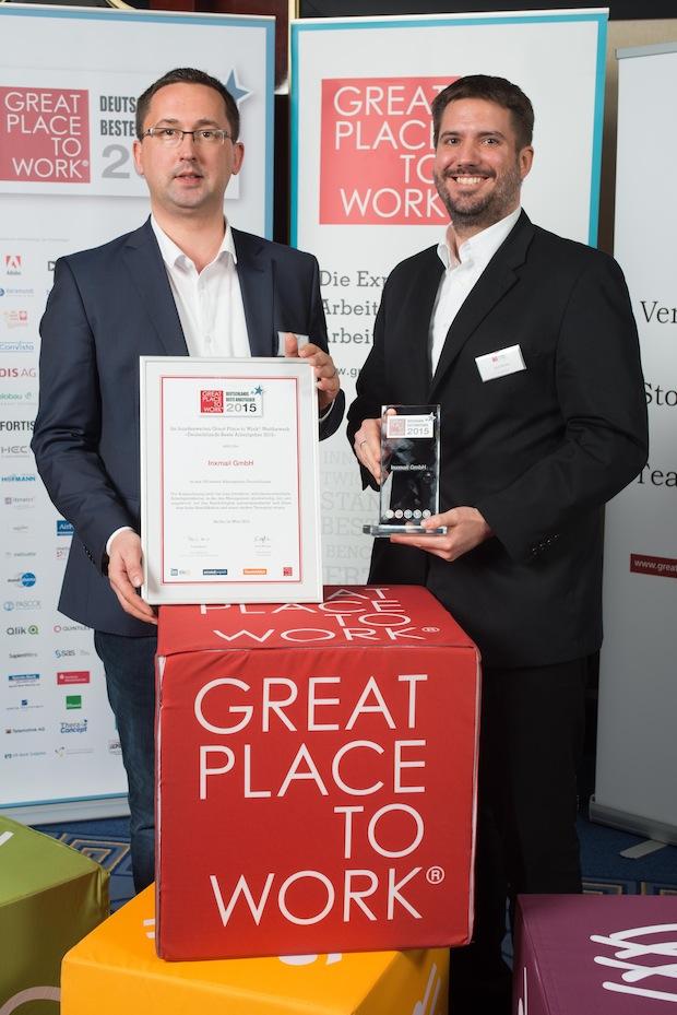 Photo of Inxmail zählt zu den besten Arbeitgebern Deutschlands 2015