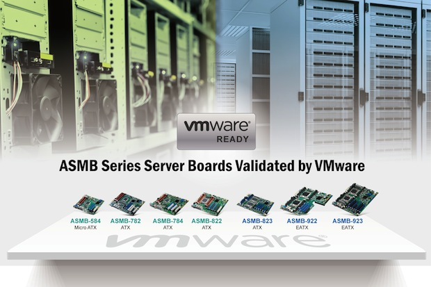 Bild von Advantech-Serverboards der Reihe ASMB werden als «VMware-ready» eingestuft