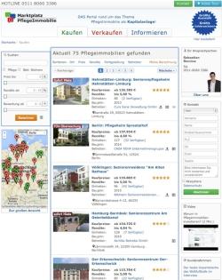 Quelle Novario - Screenshot Marktplatz Pflegeimmobilie
