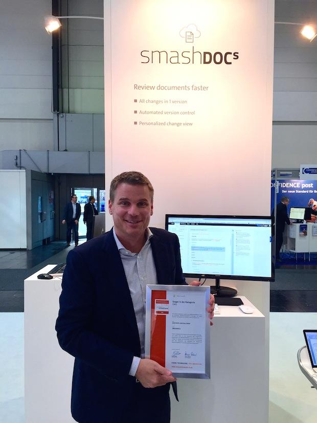 Photo of SMASHDOCs für Innovation ausgezeichnet