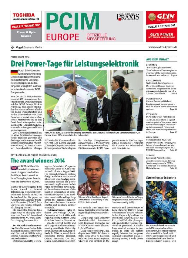 Photo of Messezeitung für PCIM Europe