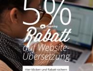 lingoking gewährt 5% Rabatt auf Webseiten-Übersetzung & Lokalisierung