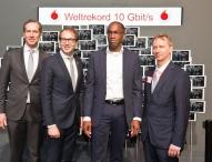 Vodafone präsentiert Turbo-Netz für den Digital-Minister