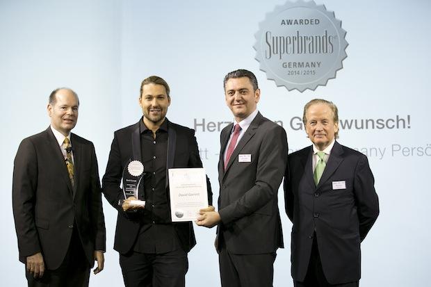 Bild von Superbrands Germany Gala mit Auszeichnung von David Garrett