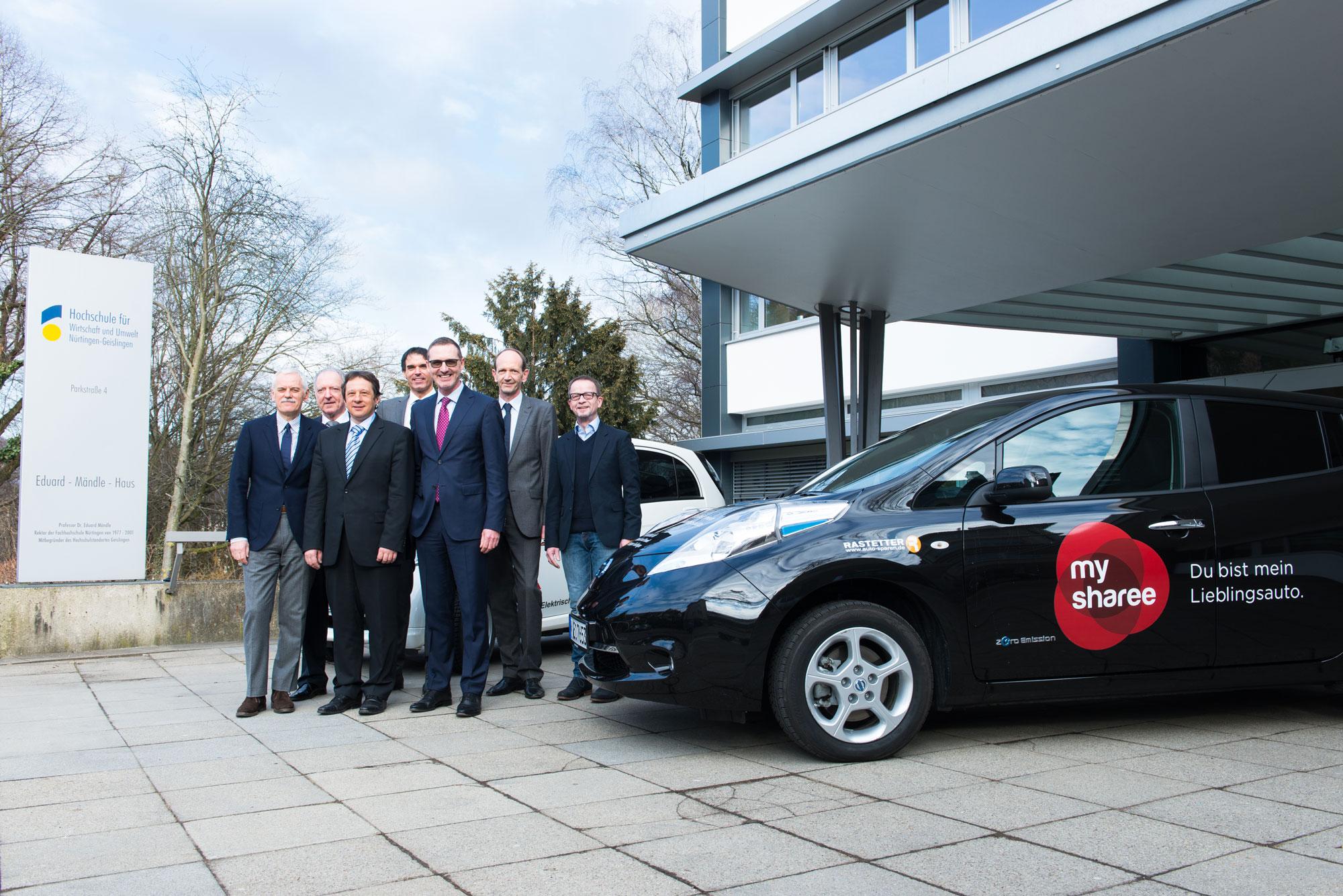 Photo of CCUnirent E-Carsharing an der Hochschule für Wirtschaft und Umwelt