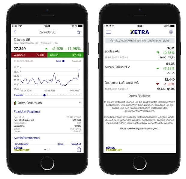 """Bild von """"Börse Frankfurt""""-App zeigt beste Kauf- und Verkaufspreise auf Xetra"""