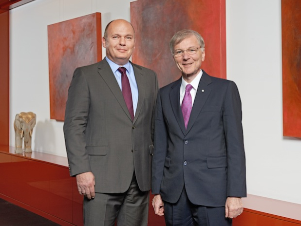 Dr. Hans-Gerd Wienands, Finanzgeschäftsführer von Messer Group, und Stefan Messer, Geschäftsführer und Eigentümer von Messer - Quelle: Pressebox