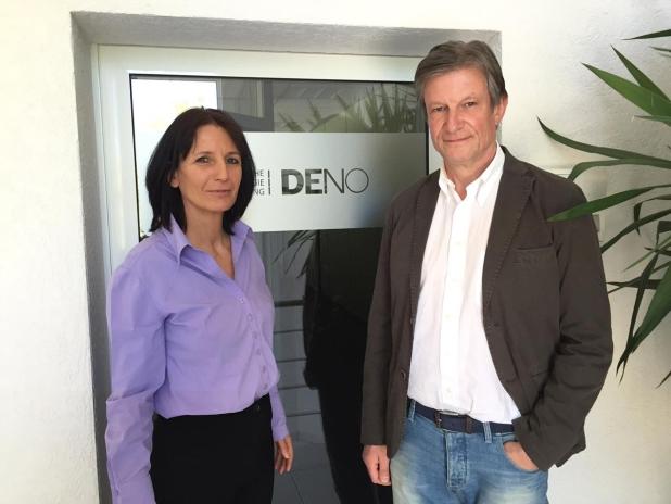 Das Gründer-Team von DENO: Nicole Heilmann & Thomas Engel  - Quelle: Econeers