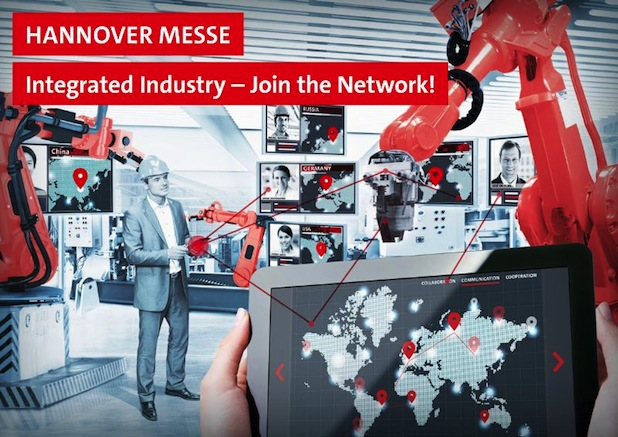 (Foto: Deutsche Messe, Hannover): Integrated Industry – Join the Network