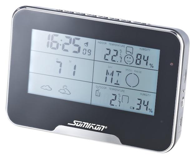 NX 4135 1 Somikon Full HD Überwachungskamera mit Funk Wetterstation - Quelle: LifePR