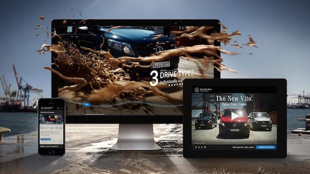 """Microsite """"Der neue Vito"""" überzeugte beim Deutschen Digital Award 2015; Microsite """"Der neue Vito"""" convinces at German Digital Award 2015 - Quelle: Daimler AG"""