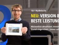 1&1 stellt MyWebsite 8 vor