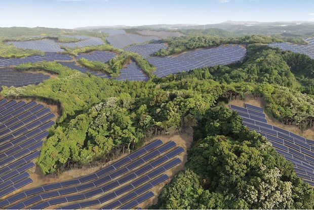 Bild von Die Solaranlage, eine der größten Japans