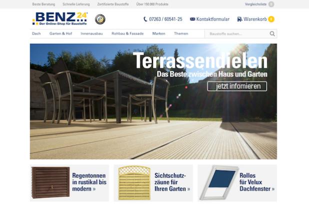 Quelle: BENZ24 | Der Online-Shop für Baustoffe