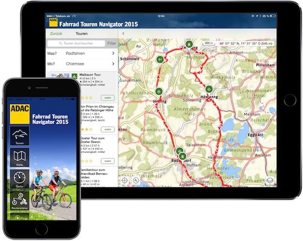 """Photo of ADAC Verlag GmbH & Co. KG: Neue App """"Fahrrad Touren Navigator Deutschland 2015"""""""