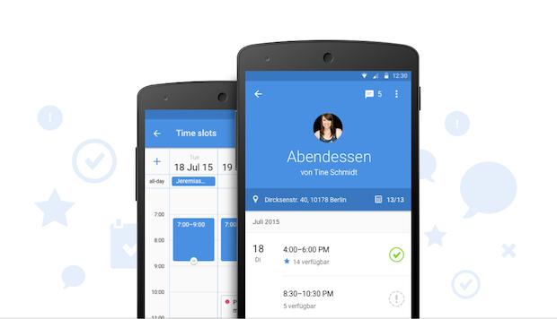 Bild von Planen und Chatten mit der neuen Doodle Android App