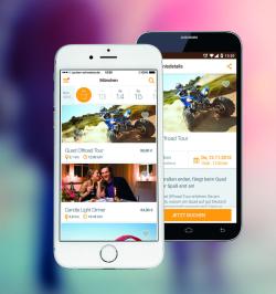 Darstellung der Jochen Schweizer App auf Smartphones - Quelle: Darstellung der Jochen Schweizer App auf dem Smartphone Quelle: jochen-schweizer.de