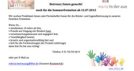 Familien-Ferien-Trägerwerk e.V sucht Betreuer/innen
