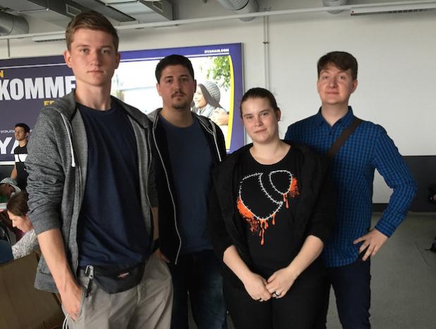 Anton Koesling, 19; Altan Tosun, 25; Jana Kienast, 21; Nicolas Ries, 22 - Quelle: TYPO3 Association