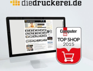 """diedruckerei.de als """"COMPUTER BILD Top Shop"""" ausgezeichnet"""