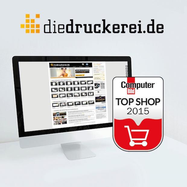 """Bild von diedruckerei.de als """"COMPUTER BILD Top Shop"""" ausgezeichnet"""