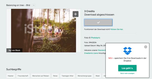 Bild von iStock by Getty Images geht Partnerschaft mit Dropbox ein