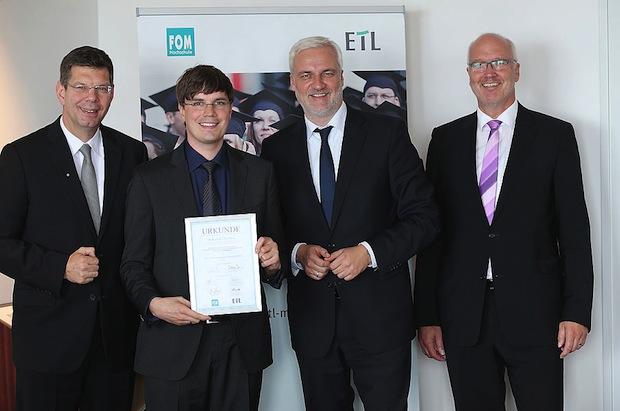 Bild von Stuttgarter FOM Absolvent mit ETL-Mittelstandspreis ausgezeichnet