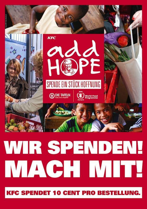 Photo of Add Hope – KFC spendet Hoffnung für den Kampf gegen den Hunger